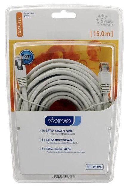 Vivanco Cat 5e Network Cable White 15m