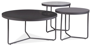 Signal Meble Artemis Bench 3pcs Set Black/ Grey