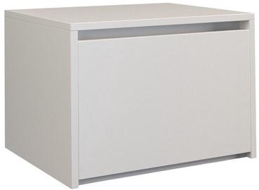 Naktinis staliukas Top E Shop K1 Karo, baltas, 45x38x34 cm