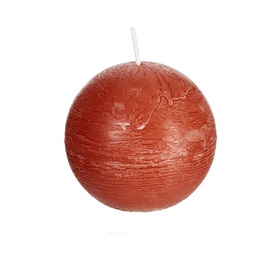 Spaas Rustik Round Candle D8cm Red