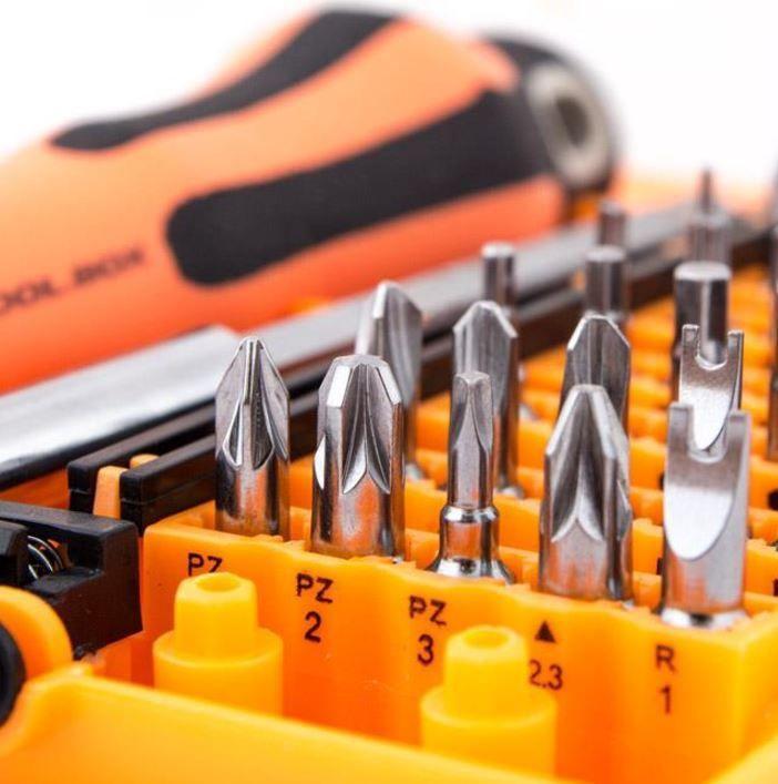 Digitalbox Tool Box 6.3 mm Bits Set With Handle