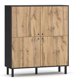 Vivaldi Meble Bospe Sideboard Black/Wotan Oak