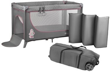 KinderKraft Joy Standard Travel Cot Pink