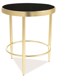 Kafijas galdiņš Signal Meble Modern Mystic C, zelta/melna, 420x420x480 mm