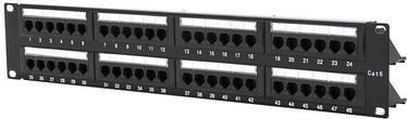 "Digitalbox Patch Panel 19"" 1U Cat 6. 48-port w/ Cable Management"