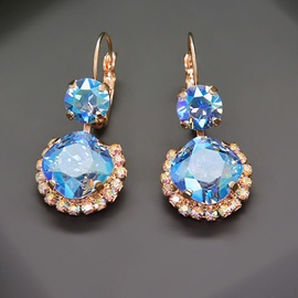 Diamond Sky Earrings With Crystals From Swarowski Klaris VI Light Sapphire Shimmer