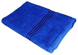 Verners Frotee Wick Pattern 70x140cm Blue