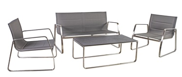 Home4you Beverly Garden Furniture Set Grey