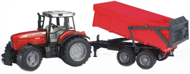 Bruder Massey Ferguson With Tipping Trailer 7480 02045