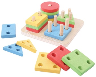 Bigjigs Toys First Four Shape Sorter BB094