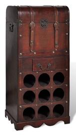 Полка для бутылок VLX Wooden Wine Rack For 9 Bottles, красный, 400 мм x 270 мм x 790 мм