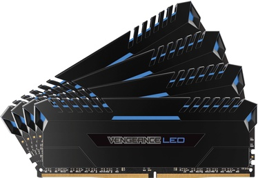 Corsair Vengeance LED 64GB 2666MHz CL16 DDR4 Blue DIMM KIT OF 4 CMU64GX4M4A2666C16B