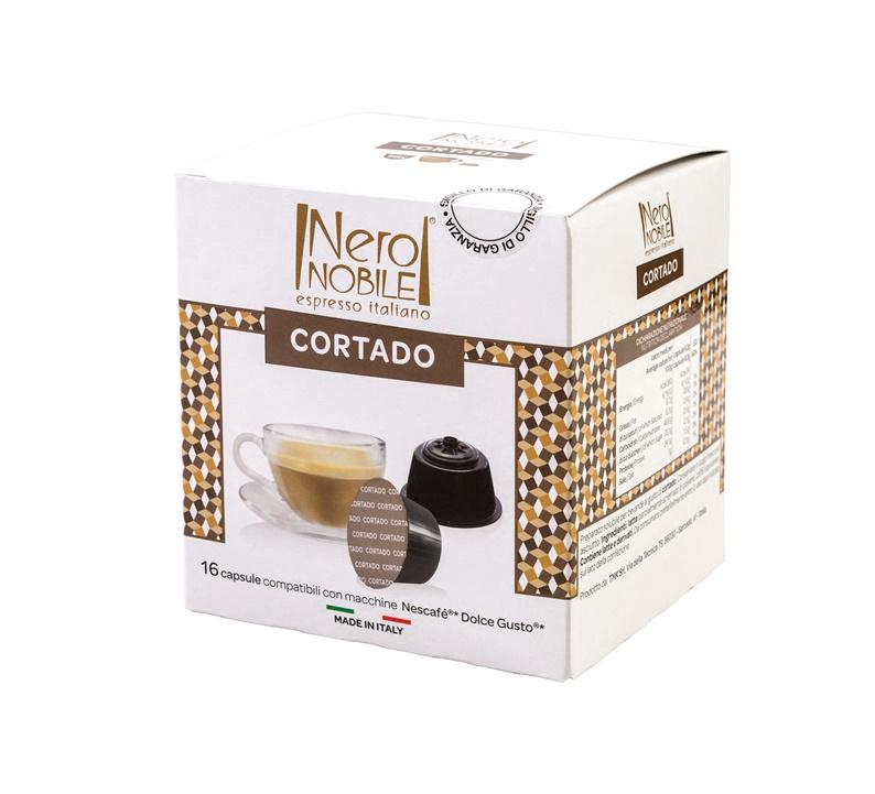Kavos kapsulės Neronobile Dolce Gusto Cortado, 16 vnt.
