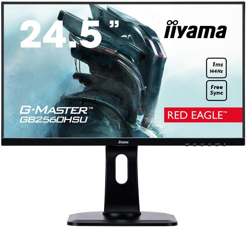 "Monitorius Iiyama G-Master Red Eagle GB2560HSU-B1, 24.5"", 1 ms"