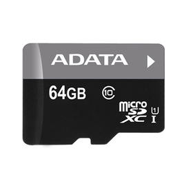 Mälukaart A-DATA microSDXC CL10 64GB Premier + adapteris