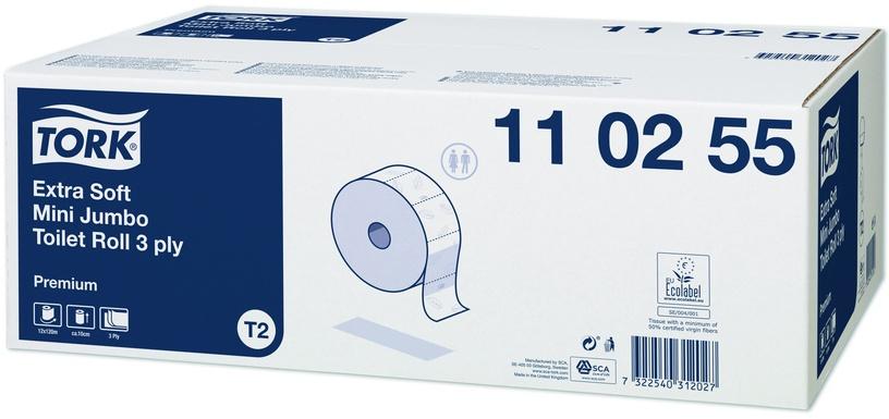 Tork Extra Soft Mini Jumbo Premium Toilet Roll T2 12pcs White