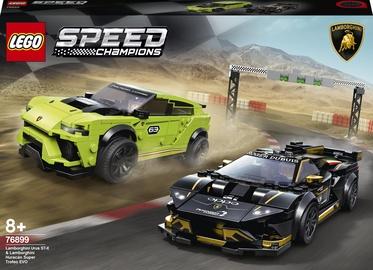 Konstruktor LEGO® Speed Champions Lamborghini Urus ST-X & Lamborghini Huracán Super Trofeo EVO 76899, 663 tk