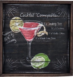 Home4you Print Picture 40x40cm Cocktail Cosmopolitan