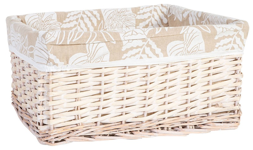 Home4you Willi Leaf Basket L 48x38xH22cm Light Brown
