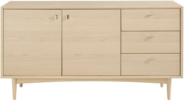 Kumode Home4you Riga Light Oak, 162x52.5x78.5 cm