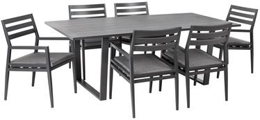 Sodo baldų komplektas Home4you Phoenix 15406, pilkas, 6 vietų