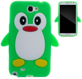 Zooky Soft 3D Cover Samsung N7100 Galaxy Note 2 Penguin Green