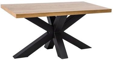 Signal Meble Lawa Cross Table 110x60cm Oak/Black