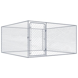 Suņa būris VLX Outdoor Dog Kennel Silver, 2000x2000x1000 mm