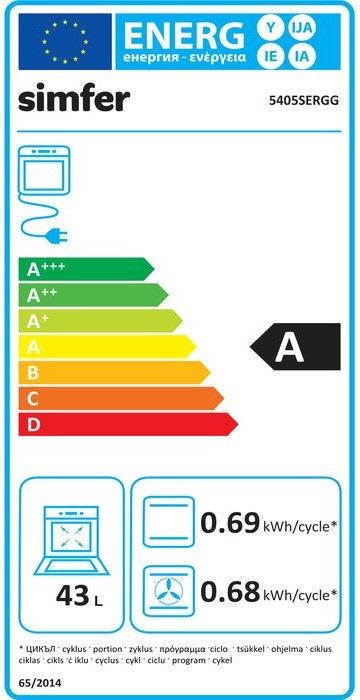 Gāzes plīts ar elektrisko krāsni Simfer 5405SERGG