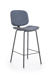 Baro kėdė H84, mėlyna/juoda