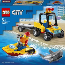 Конструктор LEGO City Пляжный спасательный вездеход 60286, 79 шт.