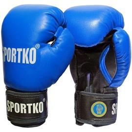 Boksa cimdi SportKO PK1, zila/melna, 12 oz