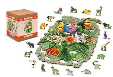 3D пазл Wooden City Tropical birds, 160 шт.
