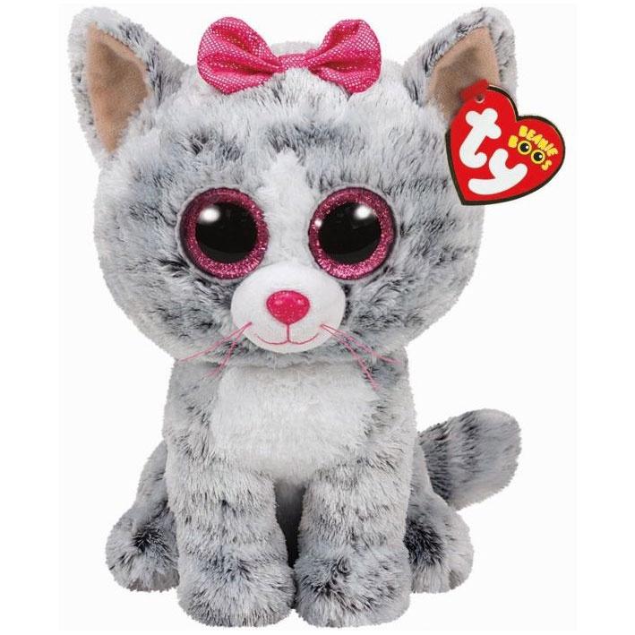 Žaislinė pliušinė katė kiki 23cm ty37075