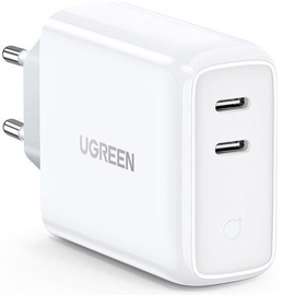 Ugreen Dual USB Type-C Wall Charger White