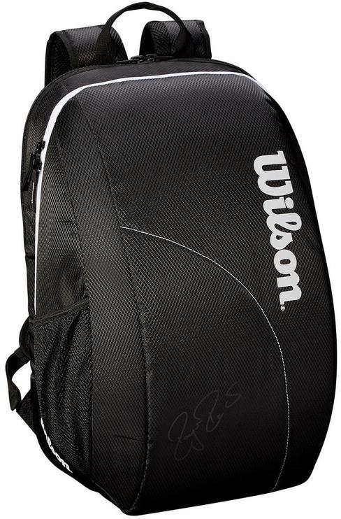 Wilson Fed Team 2018 Bag For 2 Rackets Black/White