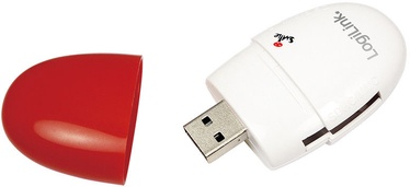 LogiLink CR0032 USB 2.0 Mini Card Reader Stick Red
