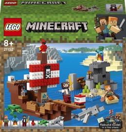 Konstruktor LEGO Minecraft Piraadilaeva seiklus 21152, 386 tk
