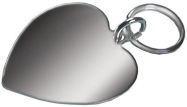 Record Metal Pendant Heart