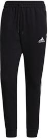 Adidas Essentials Fleece Tapered Cuff 3-Stripes Pants GK8967 Black L