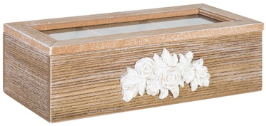 Home4you Tea Box Rose 3x Wood