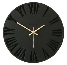 OVi Watch Wooden Wall Clock 50cm x 50cm Black