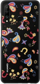 Huawei Flower Back Case For Huawei P30 Lite Black