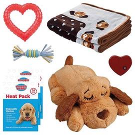 Rotaļlieta sunim VLX Snuggle Puppy New Puppy Starter Kit, brūna