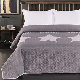 Gultas pārklājs DecoKing Starly Steel/Silver, 260x240 cm