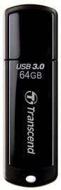 USB atmintinė Transcend JetFlash 700 Black, USB 3.0, 64 GB