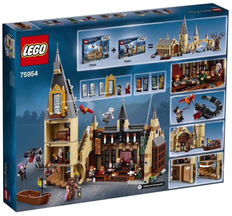 Конструктор LEGO® Harry Potter TM Большой зал Хогвартса 75954, 878 шт.