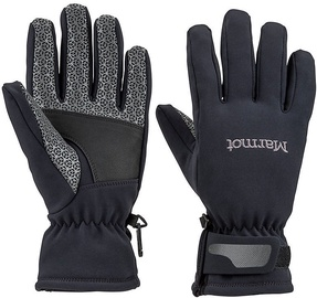 Marmot Womens Gloves Glide Softshell Black L