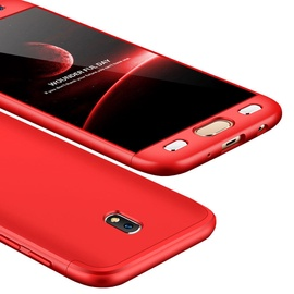 Hurtel 360 Protection Full Body Cover For Samsung Galaxy J3 J330 Red