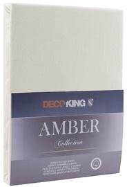 Palags DecoKing Amber, bēša, 160x200 cm, ar gumiju
